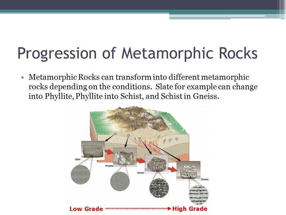 Progression of Metamorphic Rocks
