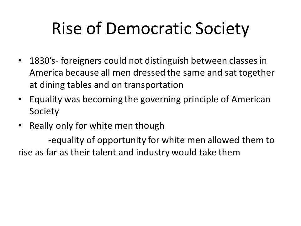 Rise of Democratic Society