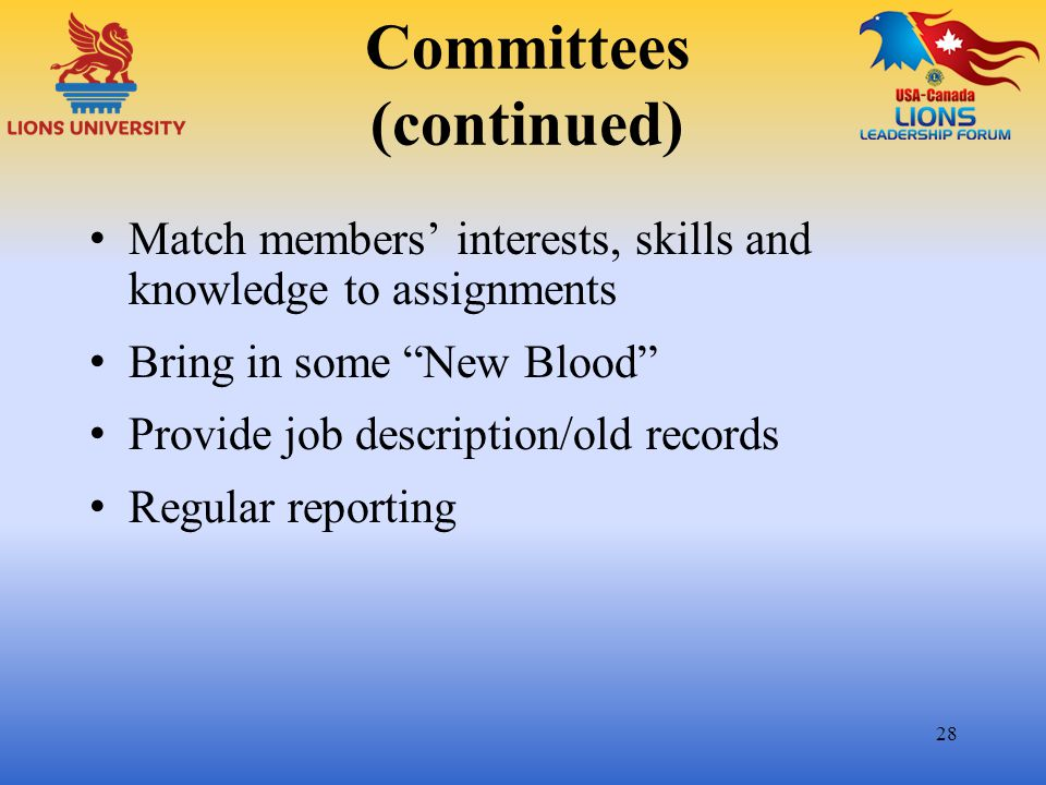 Committees (continued)
