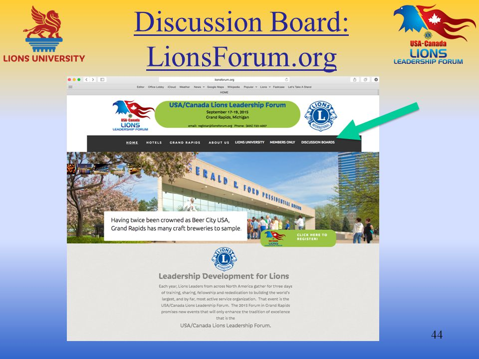 Discussion Board: LionsForum.org