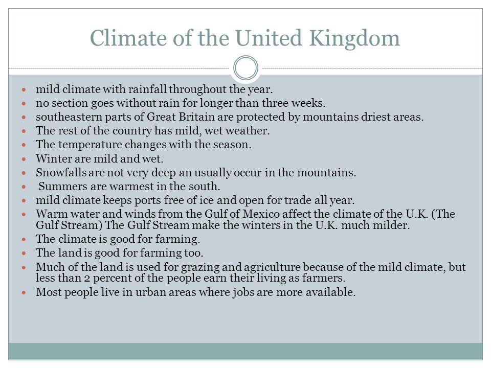 Climate of the United Kingdom
