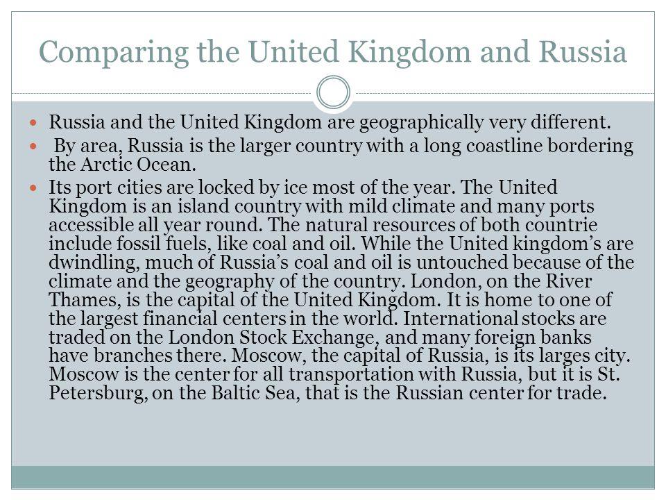 Comparing the United Kingdom and Russia