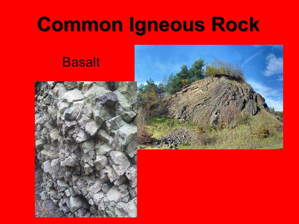 Common Igneous Rock Basalt