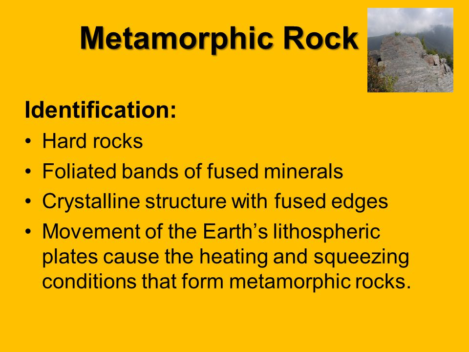 Metamorphic Rock Identification: Hard rocks