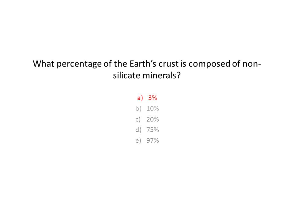 What percentage of the Earth's crust is composed of non-silicate minerals
