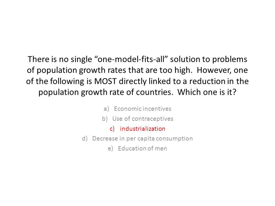 Decrease in per capita consumption