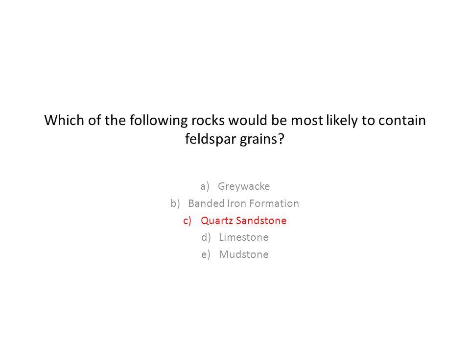 Greywacke Banded Iron Formation Quartz Sandstone Limestone Mudstone