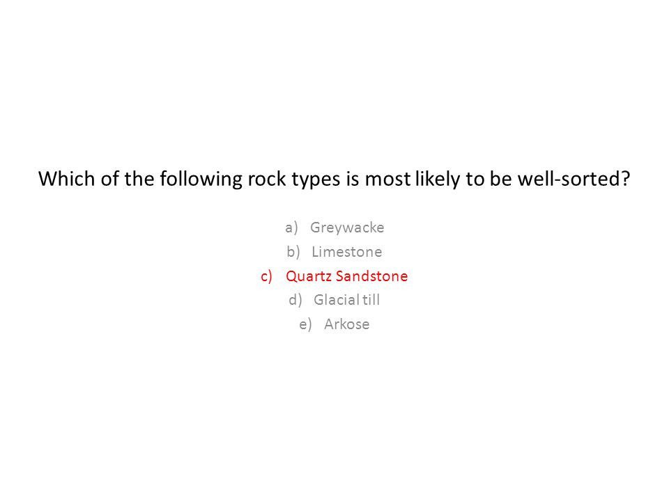 Which of the following rock types is most likely to be well-sorted
