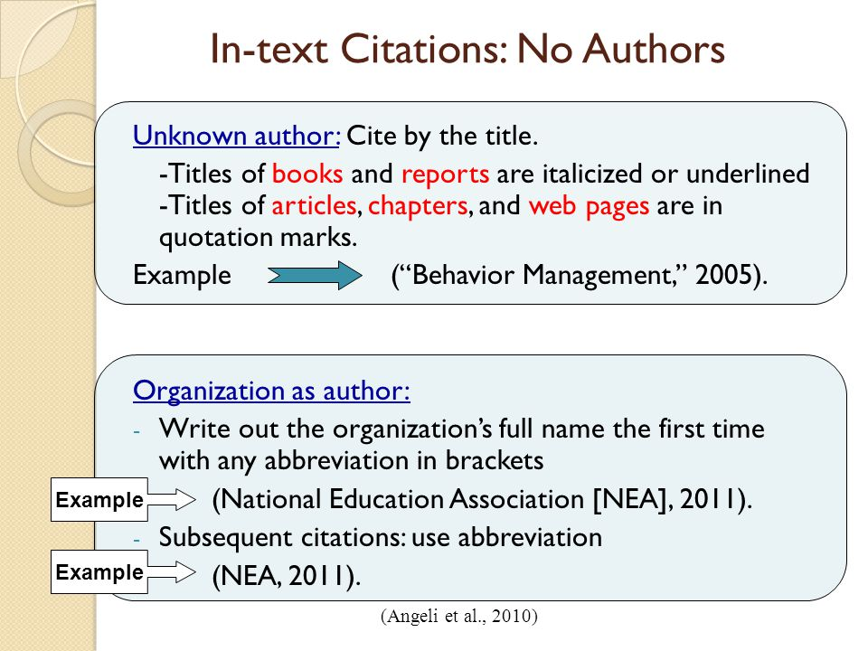 Q What Is An In Text Citation In Apa Style Writeanswers