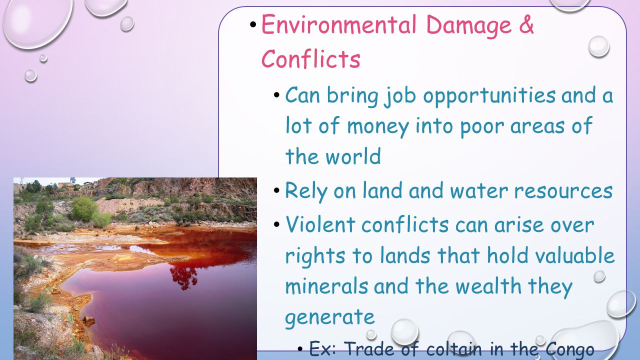 Environmental Damage & Conflicts