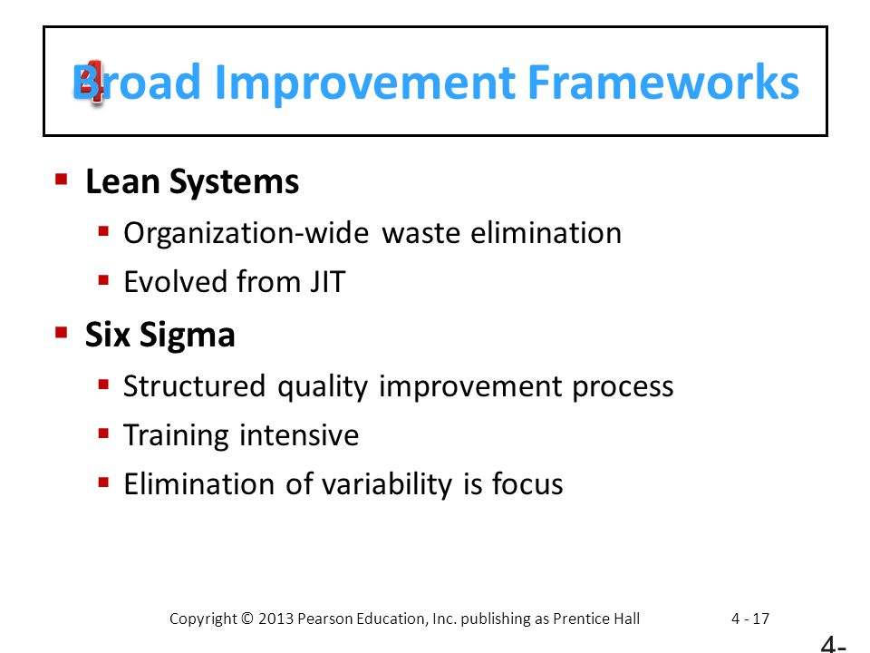 Broad Improvement Frameworks
