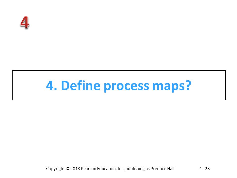 4. Define process maps