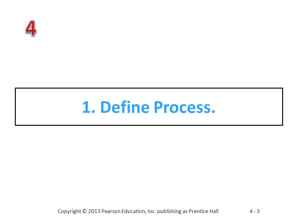 1. Define Process.