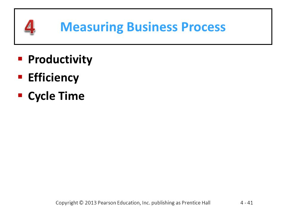 Measuring Business Process