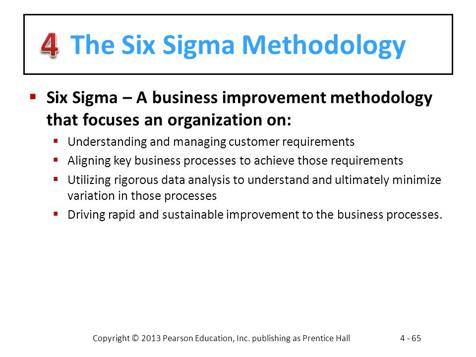 The Six Sigma Methodology
