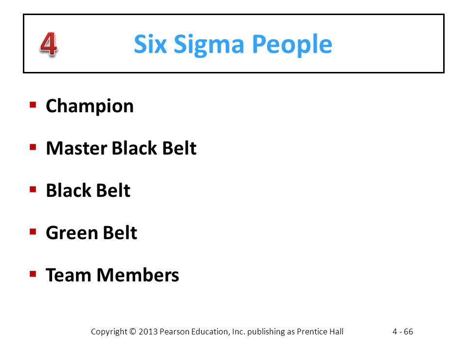 Six Sigma People Champion Master Black Belt Black Belt Green Belt