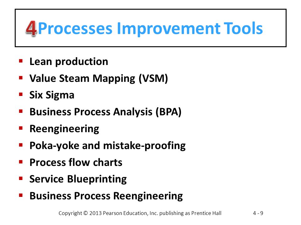Processes Improvement Tools