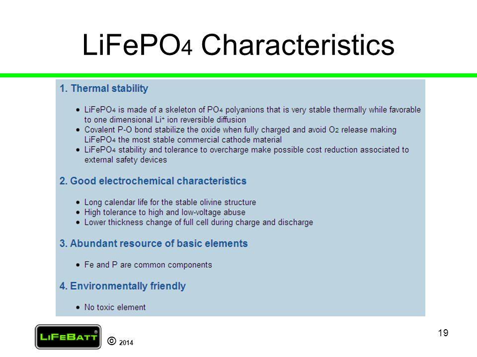 LiFePO4 Characteristics