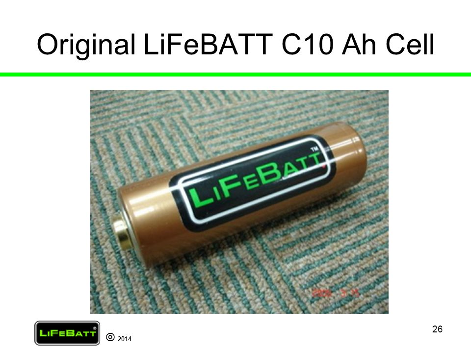 Original LiFeBATT C10 Ah Cell