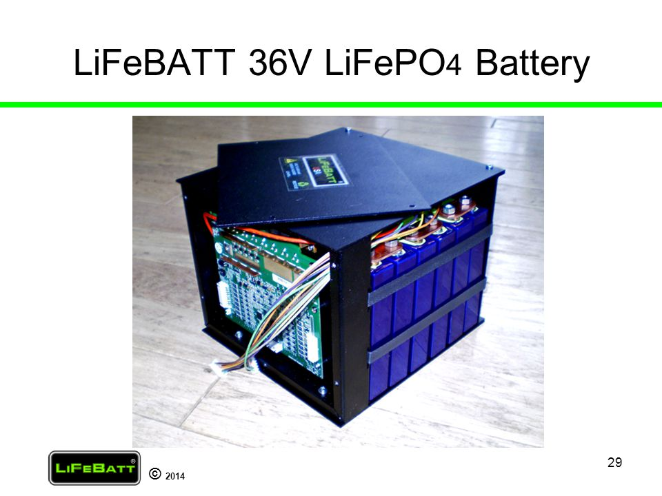 LiFeBATT 36V LiFePO4 Battery