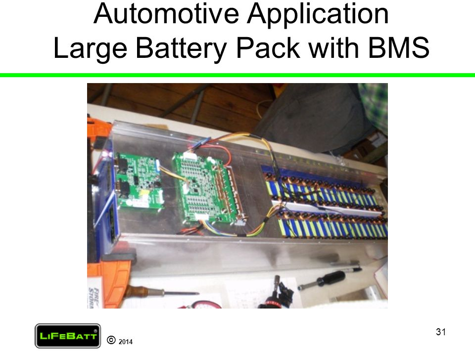 Automotive Application Large Battery Pack with BMS