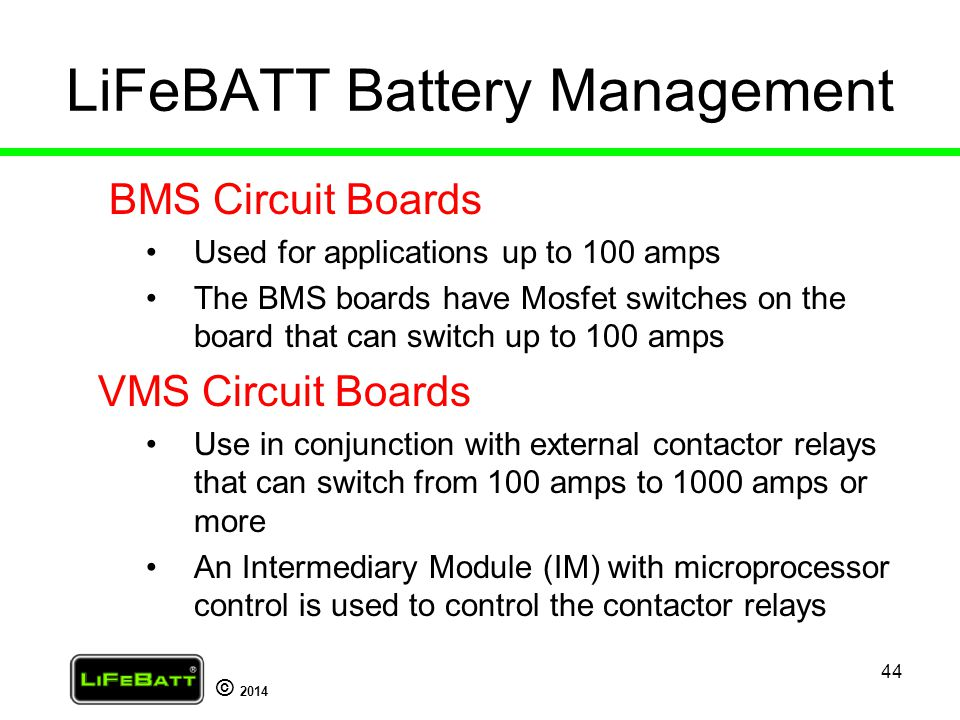 LiFeBATT Battery Management