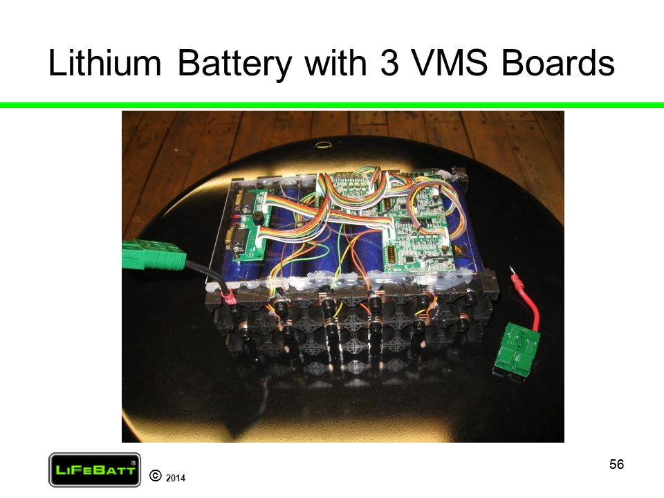 Lithium Battery with 3 VMS Boards