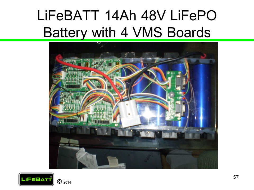 LiFeBATT 14Ah 48V LiFePO Battery with 4 VMS Boards