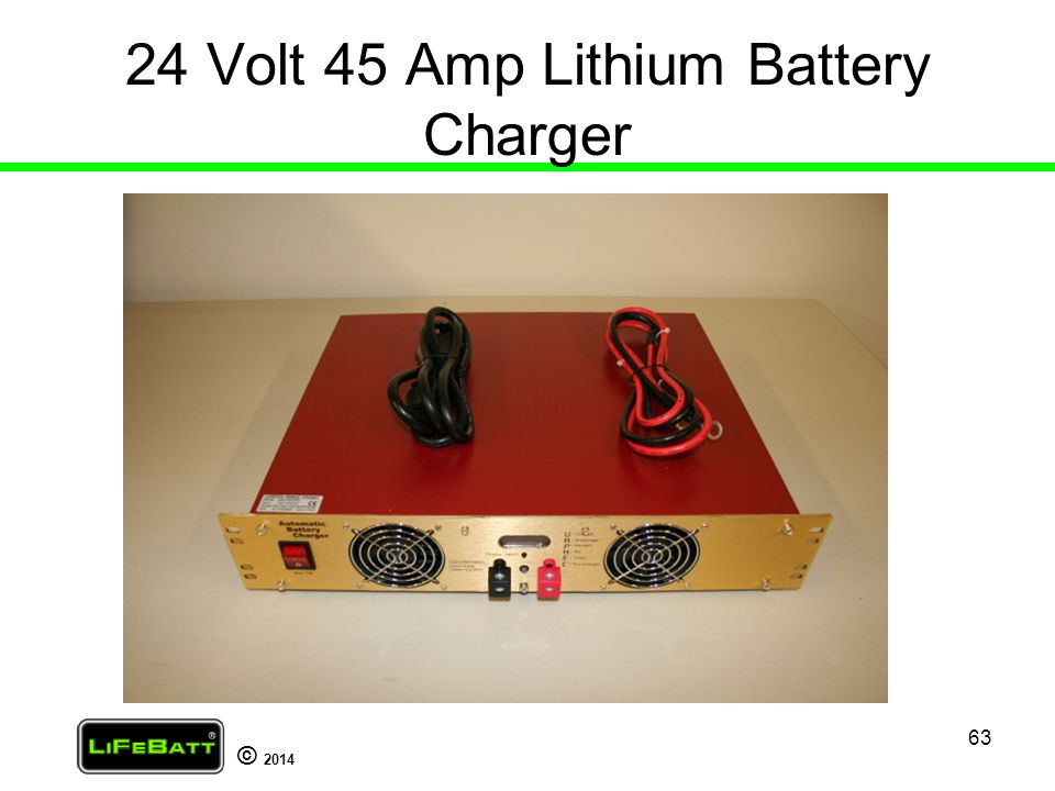 24 Volt 45 Amp Lithium Battery Charger
