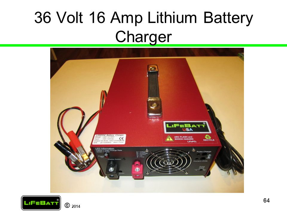 36 Volt 16 Amp Lithium Battery Charger