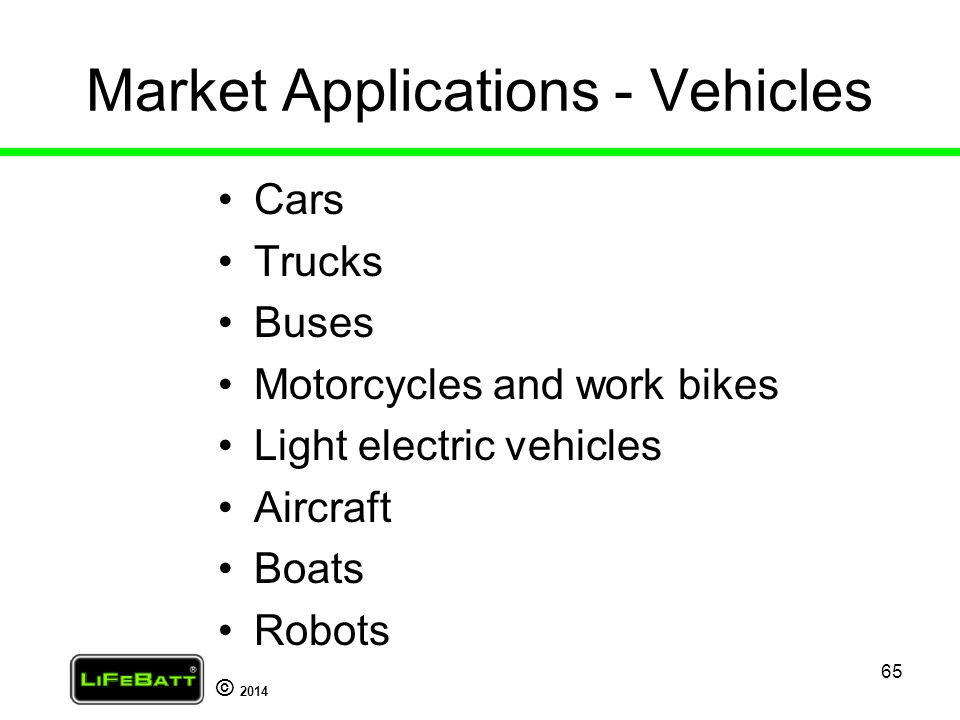 Market Applications - Vehicles