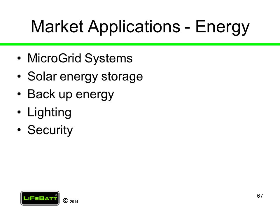 Market Applications - Energy