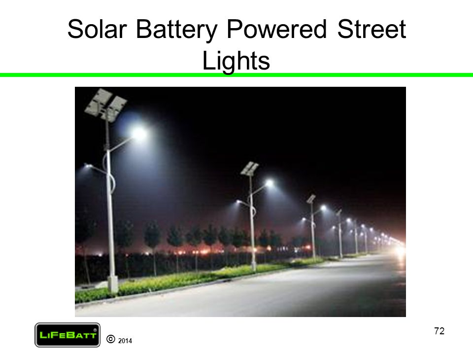 Solar Battery Powered Street Lights