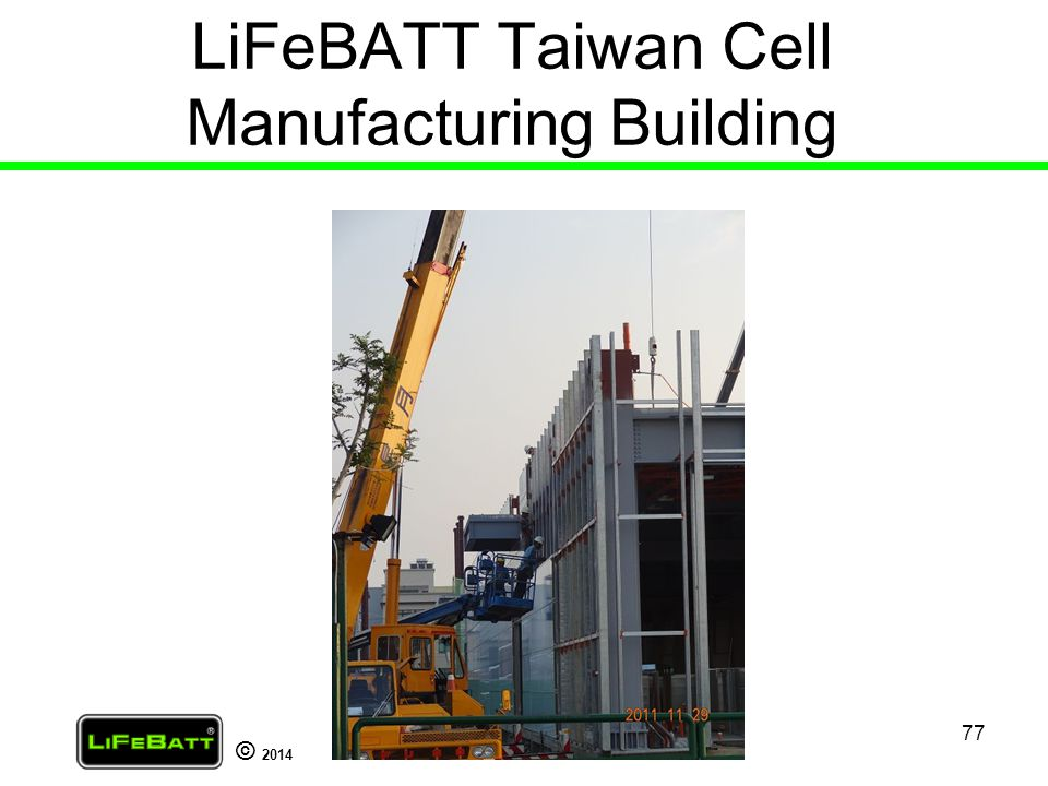 LiFeBATT Taiwan Cell Manufacturing Building