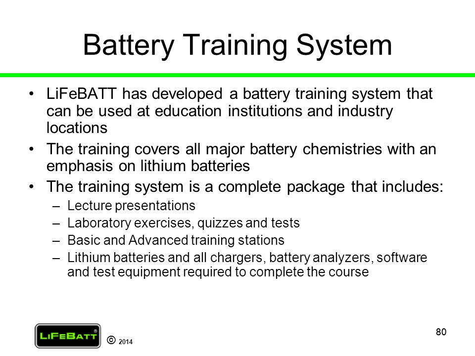 Battery Training System