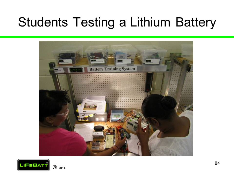 Students Testing a Lithium Battery