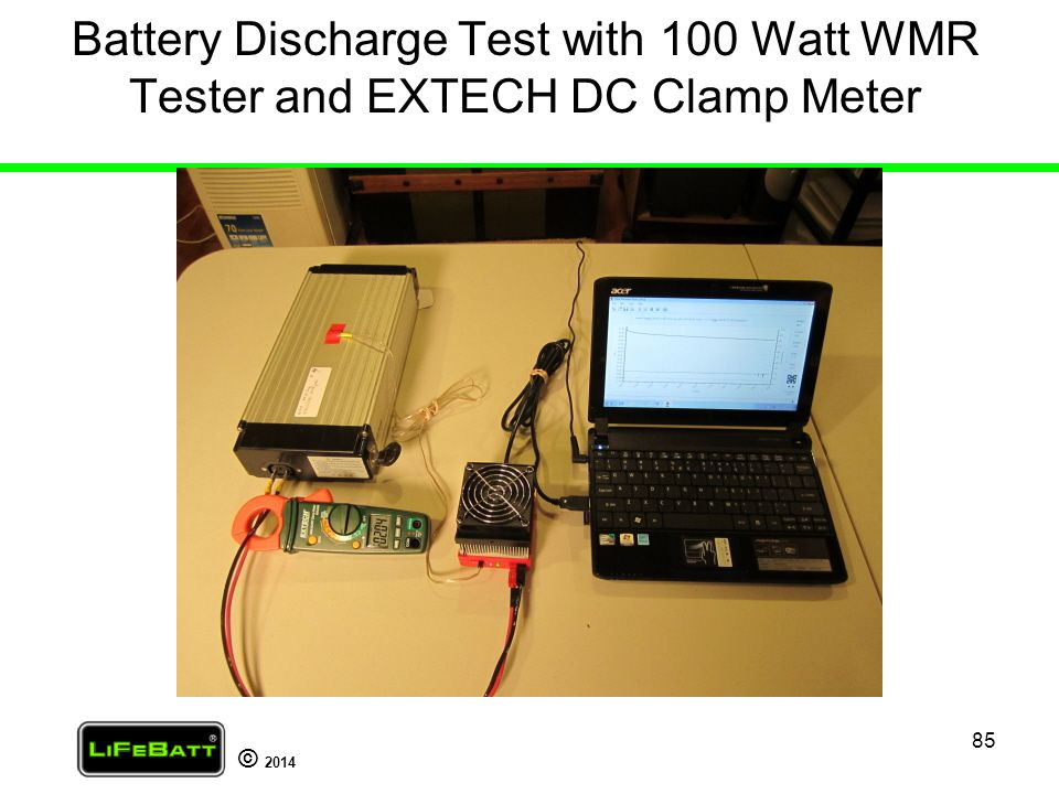 Battery Discharge Test with 100 Watt WMR Tester and EXTECH DC Clamp Meter