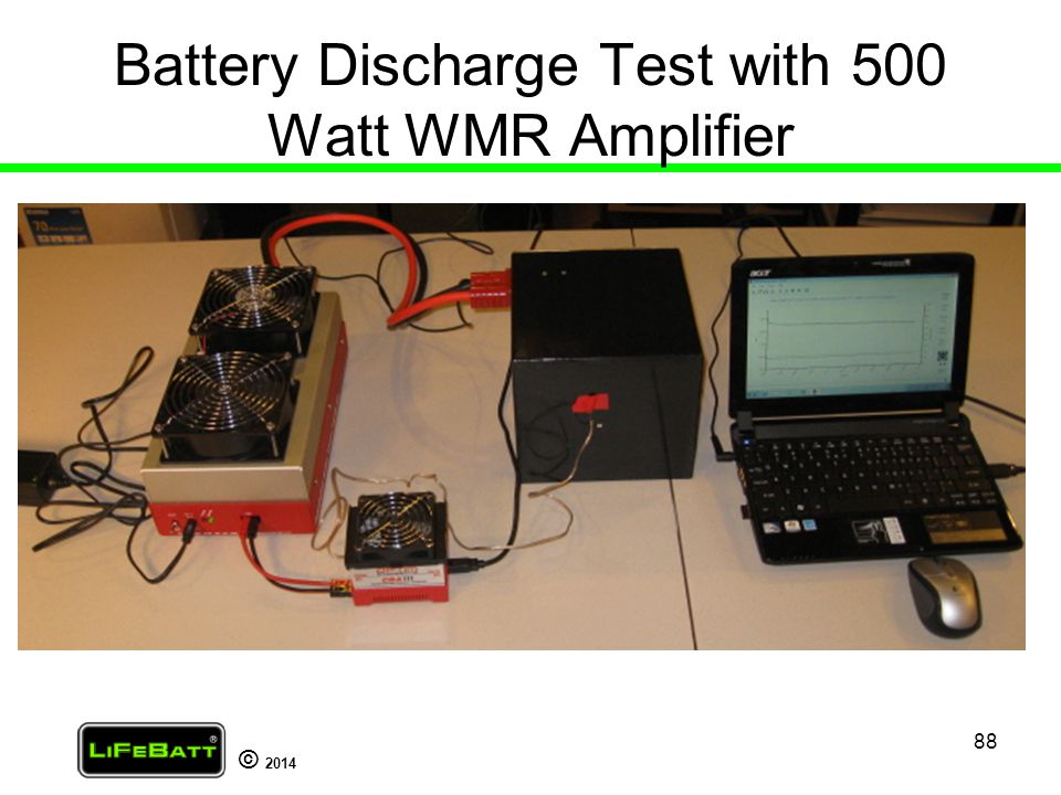 Battery Discharge Test with 500 Watt WMR Amplifier