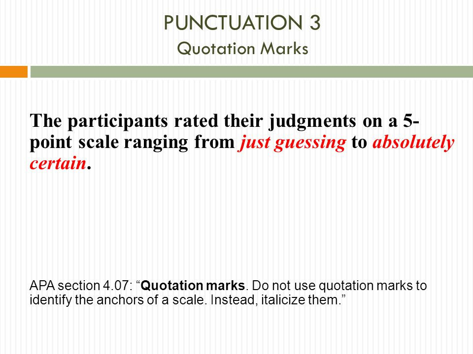 PUNCTUATION 3 Quotation Marks