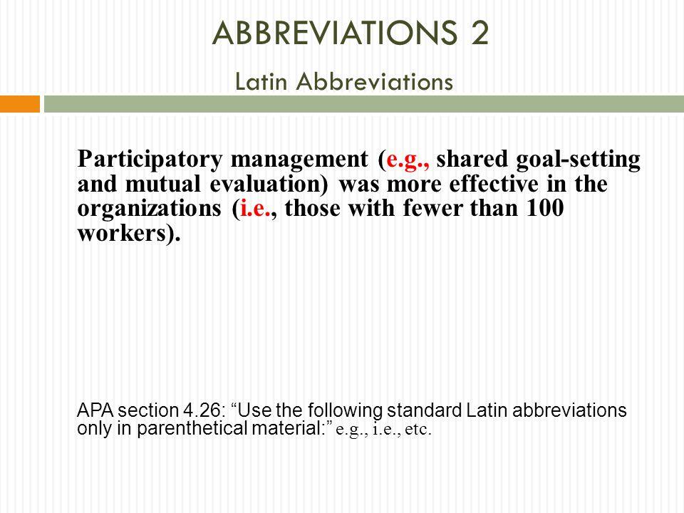ABBREVIATIONS 2 Latin Abbreviations