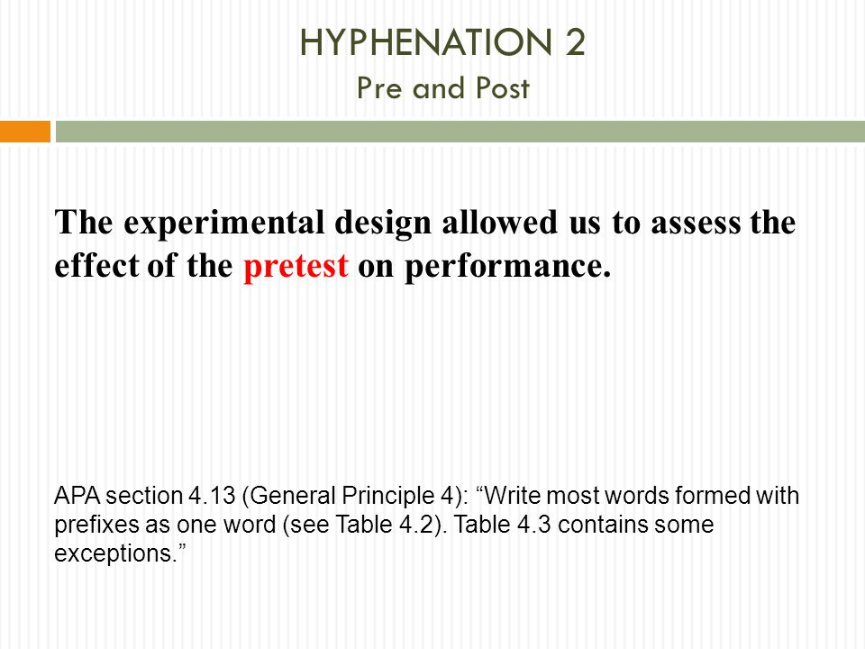 HYPHENATION 2 Pre and Post
