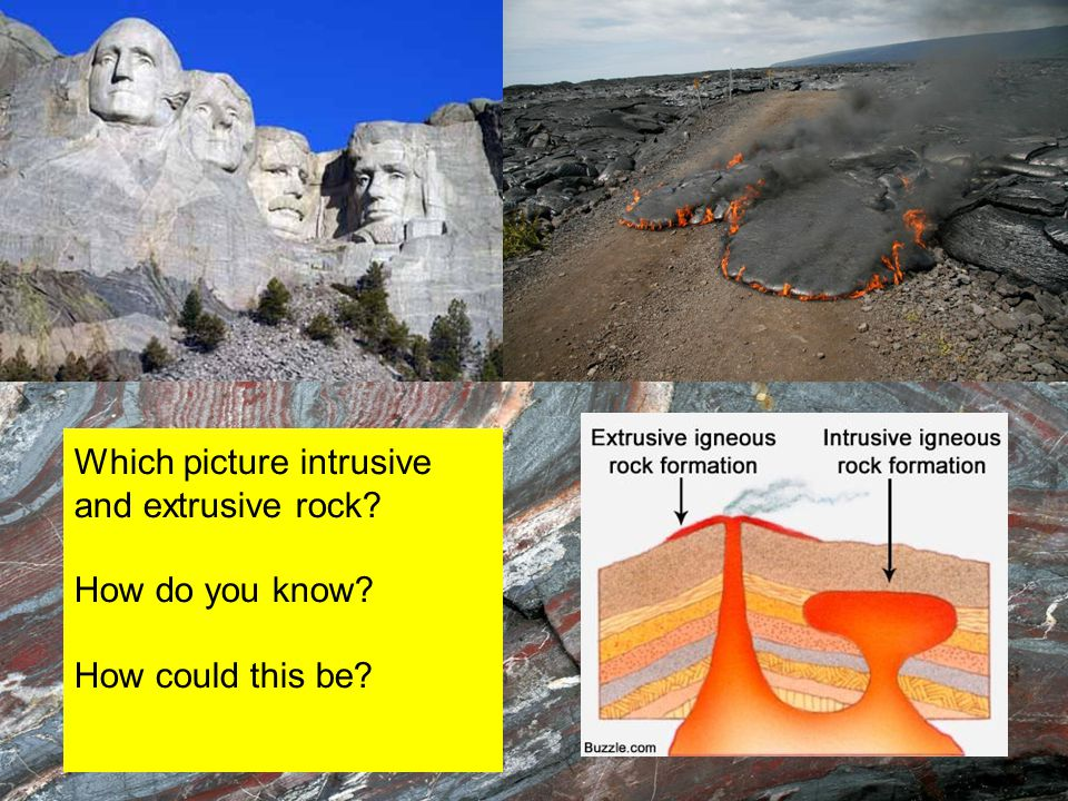 Which picture intrusive and extrusive rock