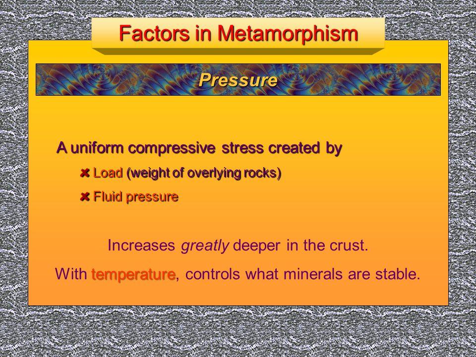 Factors in Metamorphism