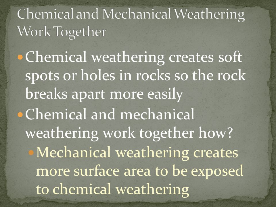 Chemical and Mechanical Weathering Work Together