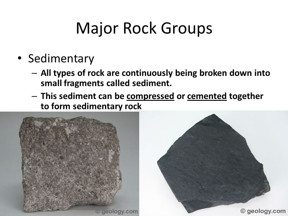 Major Rock Groups Sedimentary