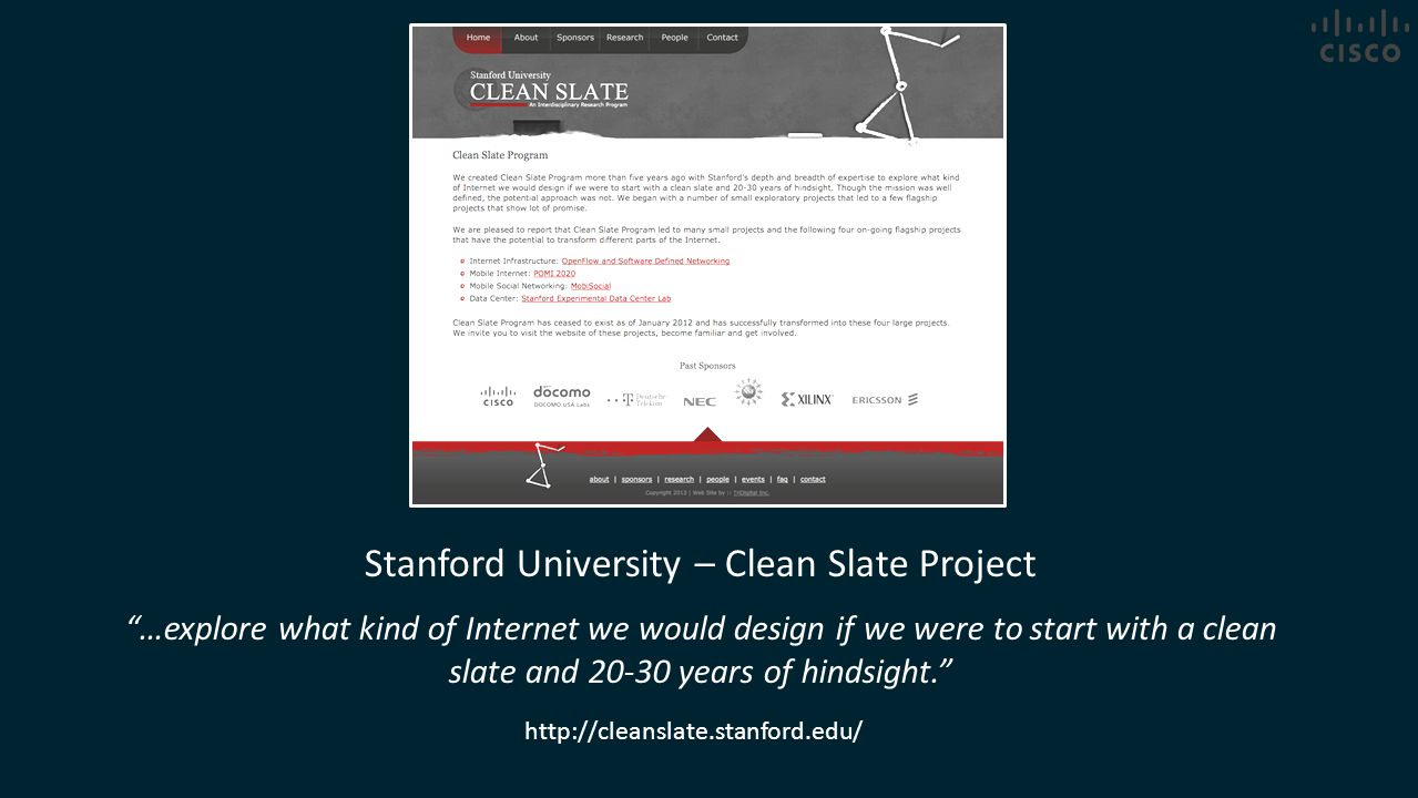 Stanford University – Clean Slate Project