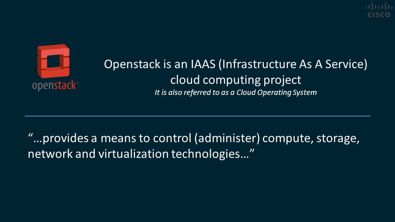 It is also referred to as a Cloud Operating System