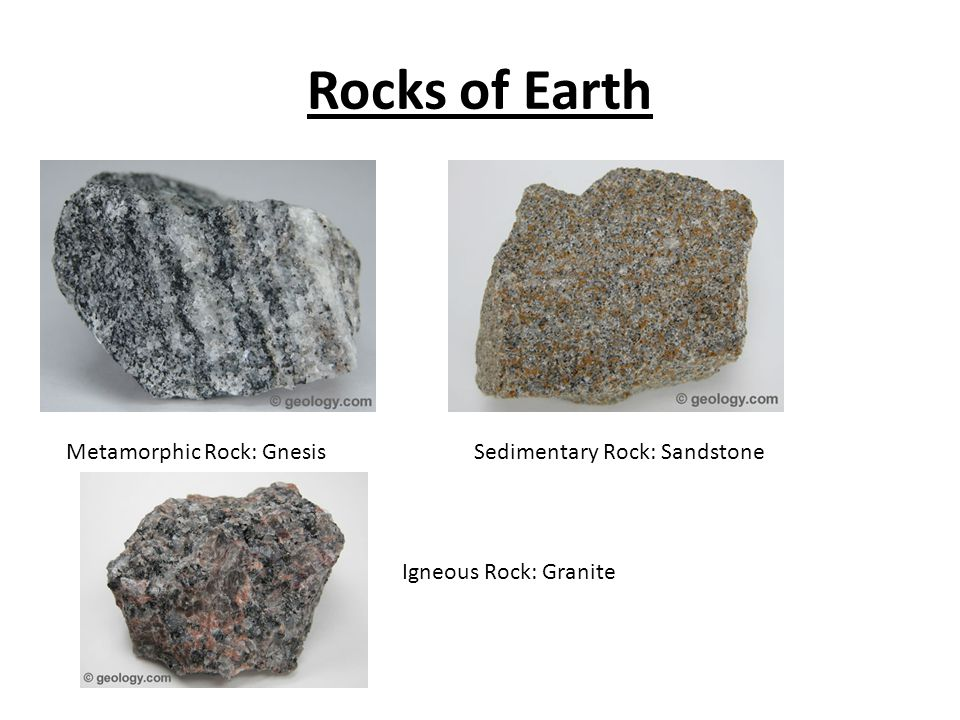 Rocks of Earth Metamorphic Rock: Gnesis Sedimentary Rock ...