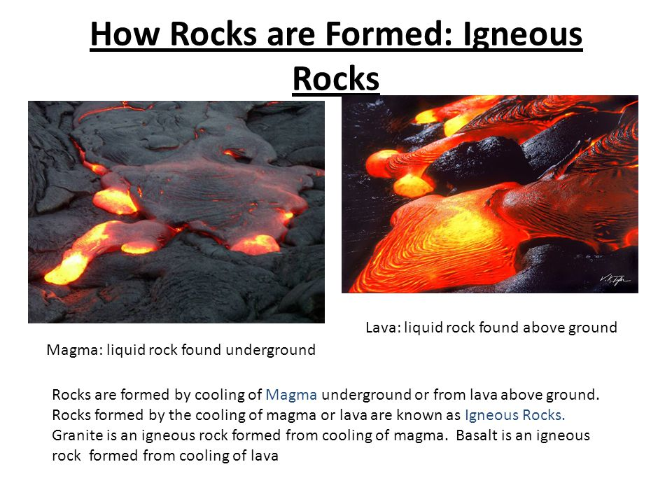 How Rocks are Formed: Igneous Rocks