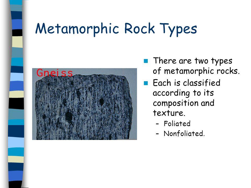 Metamorphic Rock Types
